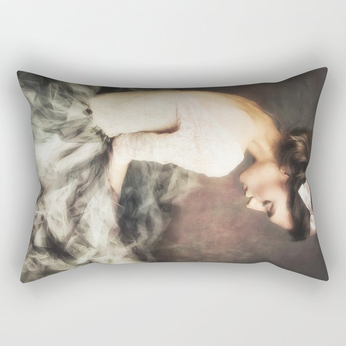 thinking girl / solitude Rectangular Pillow