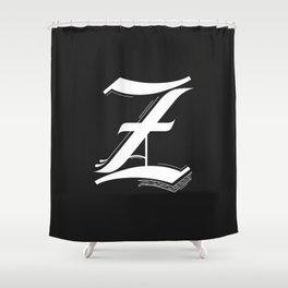 Letter Z Shower Curtain