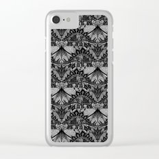 Stegosaurus Lace - Black / Grey Clear iPhone Case