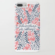 Adventure is Calling – Red & Black Palette iPhone 7 Plus Slim Case