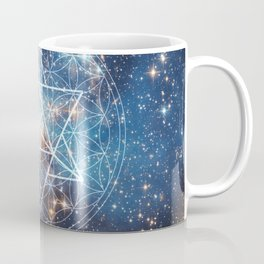 Merkaba in Flower of Life Coffee Mug