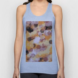 orange brown and black circle abstract background Unisex Tank Top