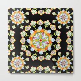 Jaipur Blossom Mandala Metal Print