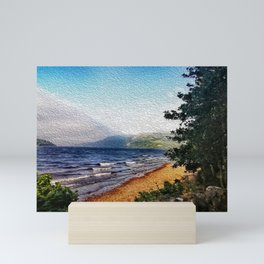 Looking for Loch Ness Monster. Vintage Postcard from Scotland Mini Art Print