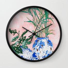 Friendship Plant Wall Clock