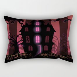 Be it ever so Haunted, there's no place like Home. Rectangular Pillow