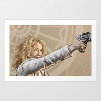 river song Art Prints featuring River Song by Celina Hulshof