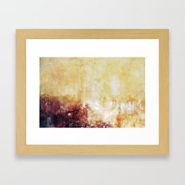 Sunny Landscape Abstract Framed Art Print