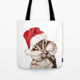 Christmas Squirrel Tote Bag