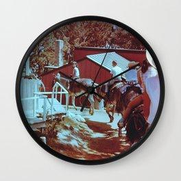 Donkey Ride Wall Clock