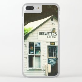 Brewsters Taxi Clear iPhone Case