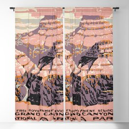 WPA vintage Travel poster - Grand Canyon - National Park Service Blackout Curtain