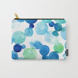 Turquoise bubbles Carry-All Pouch