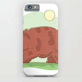 Wombat with sun iPhone Case