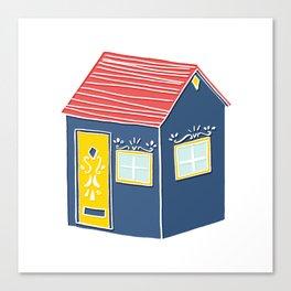 Little Scandinavian House Canvas Print