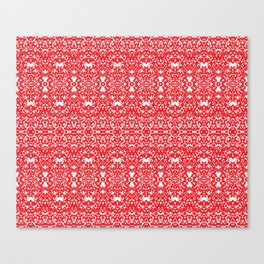 Red Flakes Canvas Print