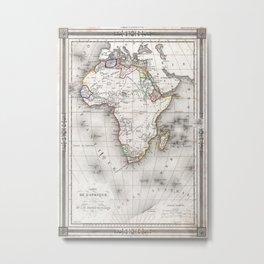 Vintage Map of Africa (1852) Metal Print