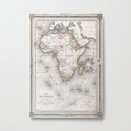 Vintage Map of Africa (1852) Metal Print