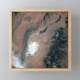 791. White Sands and the nearby Carrizozo Lava Beds in Southeast NM Framed Mini Art Print