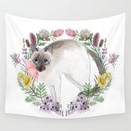 Pixie the Chocolate Siamese Cat Wall Tapestry