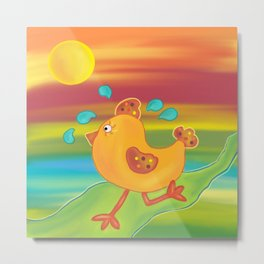 Chicken Run Metal Print