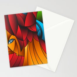 The Queen Cubism Art Stationery Cards