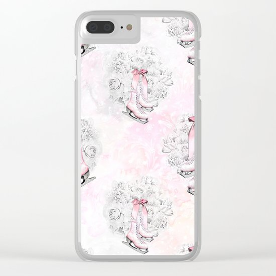 Figure Skating #5 Clear iPhone Case