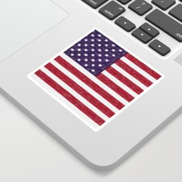 USA flag - in Crayon Sticker