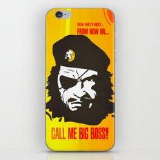 Call Me Big Boss iPhone & iPod Skin