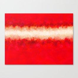 Bright Ruby Red & Cream Abstract Canvas Print