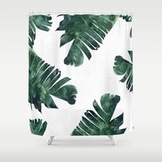 Banana Leaf Watercolor #society6 #buy #decor Shower Curtain