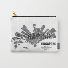 Singapore Map Carry-All Pouch