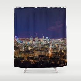 Montreal Nightlights Shower Curtain