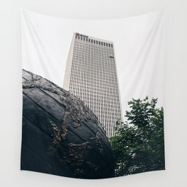 Williams Tower Courtyard - Tulsa Wall Tapestry