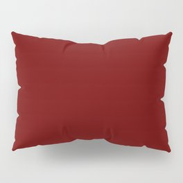 Blood Red - solid color Pillow Sham