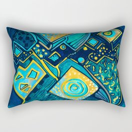 GALAXY SPARKLES BLUE Rectangular Pillow