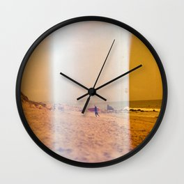 Light Leak Surfer Wall Clock