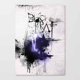 Black Rat (violet) Canvas Print