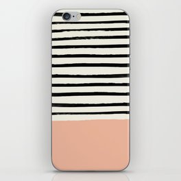Peach x Stripes iPhone Skin