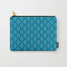 Blue-Green Diamond Fencing Carry-All Pouch