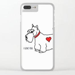 I love you - Scottie Clear iPhone Case