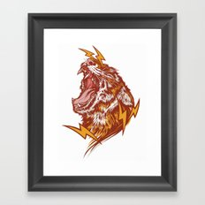 Tiger Shock Framed Art Print