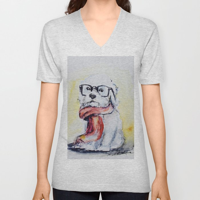 West Highland White Terrier Unisex V-Neck