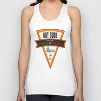 pasta Tank Tops featuring Hot Sobe Gourmet Pizza & Pasta by vibrains