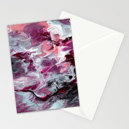 Raspberry Marble Stationery Cards