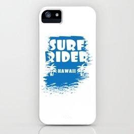 Fresh Hawaiian Style Tshirt Design Surf Rider iPhone Case