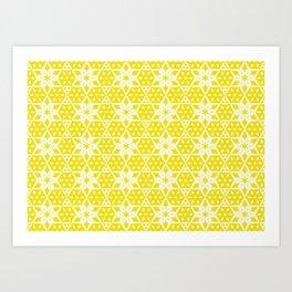 Stars and Hexagons Pattern - Sunburst Art Print
