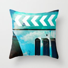 Road Roller Chevron 03 - Industrial Abstract (everyday 19.01.2017) Throw Pillow