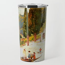 Switzerland and Italy Via St. Gotthard Travel Poster Travel Mug