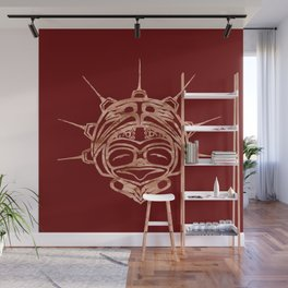 Copper Frog Blood Wall Mural